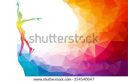 creative silhouette ice skating girl ice stock vector royalty free