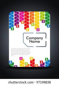 Creative sim card presentation design concept. Vector illustration
