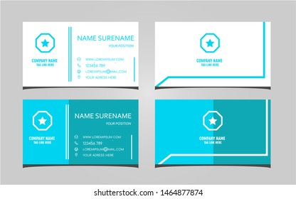 creative and simple business card template. Eps 10 vector