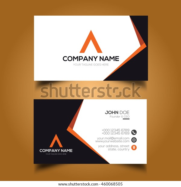 Creative Simple Corporate Business Card Stock Vector (Royalty Free