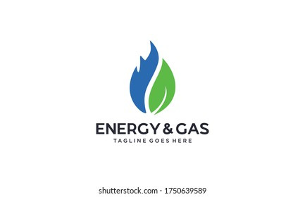 Creative and simple energy and gas for industry logo design vector editable