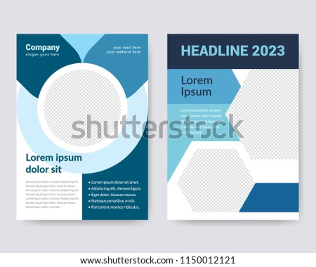 creative simple flyer design business brochure stock vector royalty