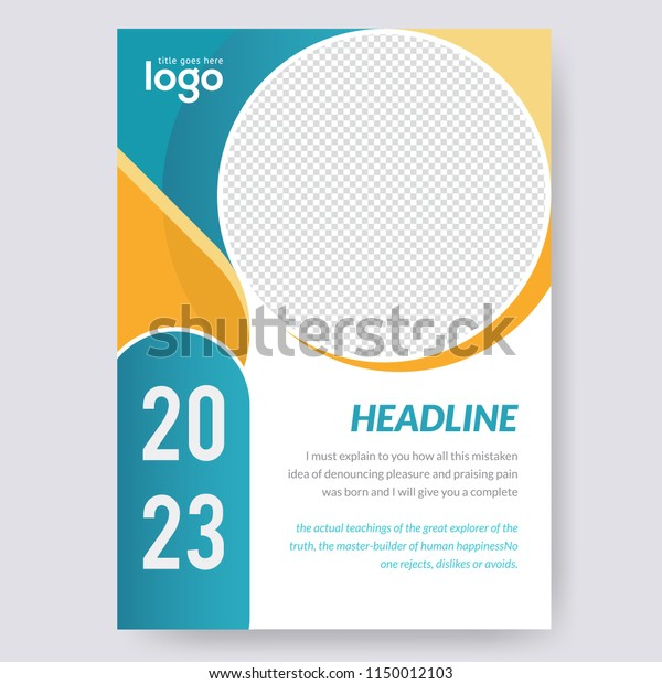 creative simple flyer design business brochure stock