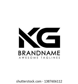 creative simple initial letters KG logo monogram style