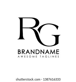 creative simple initial letters RG logo monogram style