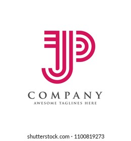 creative and simple letter JP logo vector concept