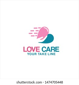 Creative simple Love Care Logo and Icon Template - vector