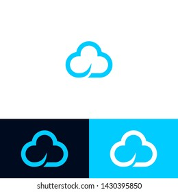 creative, simple and modern cloud logo design inspiration 2019 template for the company