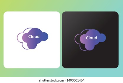 creative  simple and modern cloud logo design inspiration template for the company