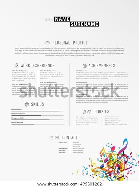 Music Resume Template from image.shutterstock.com
