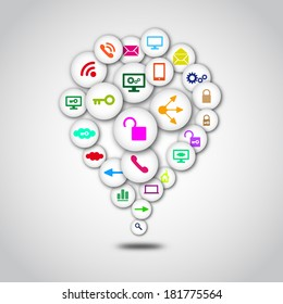 Creative Social Network Computing Element Vector Design