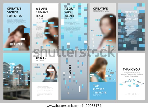 Creative Social Networks Stories Design Vertical Stock Vector Royalty Free 1420073174