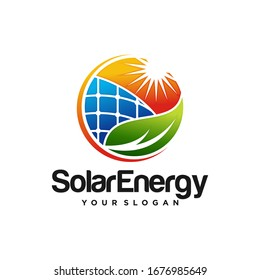 Creative Solar Energy Logo Design Vector Template