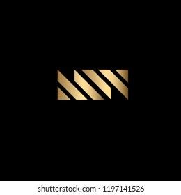 Creative Solid Iconic Letter MW Logo Design
