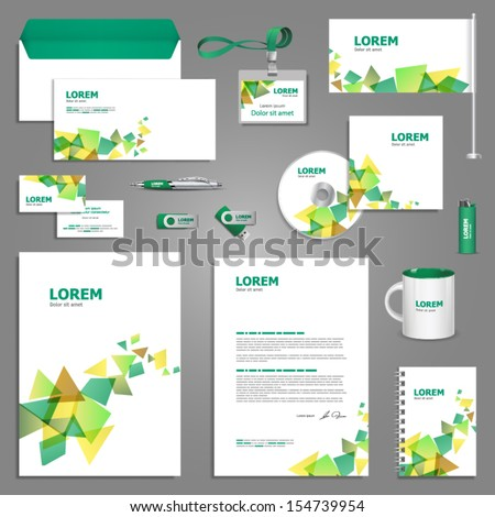 creative stationery template design documentation business stock