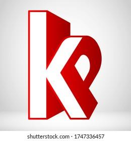 Creative Strong Initial Letter KP. PK Logo Vector Concept
