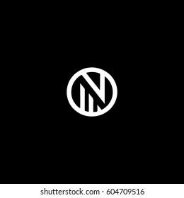 Creative stylish fashion brand elegant symbolic  black and white color N initial based letter icon logo