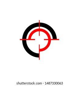 creative stylish target logo vector design concept illustration