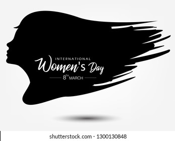 Creative and Stylish text of 8th of March with colorful decorative grungy background for Happy Women's Day.