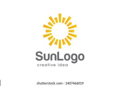 Creative Sun Logo Design Template