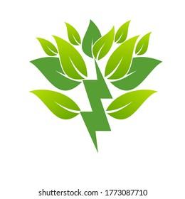 Kreatives Symbolkonzept für erneuerbare Energien