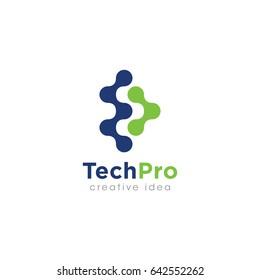 Creative Technology Concept Logo Design Template