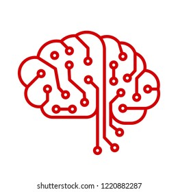 Creative technology human brain with neural bonds - vector for stock