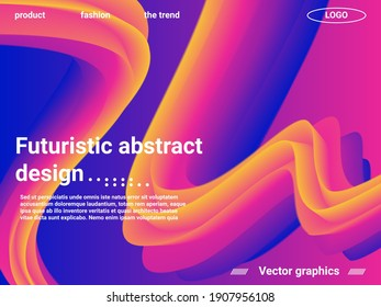 Creative template with fluid rainbow wave elements. Abstract wave liquid shape. Creative vector concept.  Abstract background with bright gradient and light effect.
