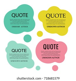 Creative text or quote bubbles, vector layout, template.