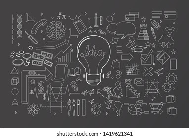 creative thinking idea spread vector illustration