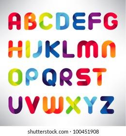 creative three dimensional alphabet set