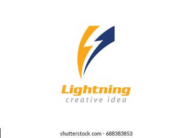 Creative Thunder Concept Logo Design Template