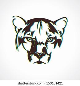 creative tiger  face design vector