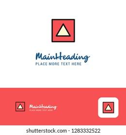 Creative Traingle shape Logo Design. Flat color Logo place for Tagline. Vector Illustration