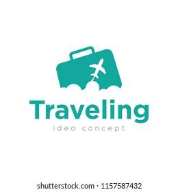 Creative Travel Concept Logo Design Template