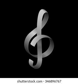 Creative treble clef