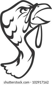 fishing symbol wels catfish stock vector royalty free 157951505 Whale Catfish creative turkey bird illustration