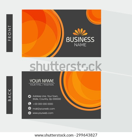Creative Two Sided Business Card Design Stock Vector Royalty Free