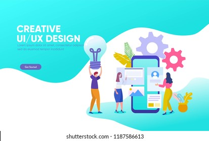 Creative UI/UX Design vector illustration template, can use for, landing page, template, ui, web, mobile app, poster, banner, flyer