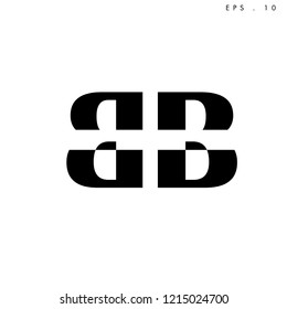 Creative unique elegant , minimal fashion brand, black and white color. B  BB DD  DB  D  O  initial based letter icon logo.