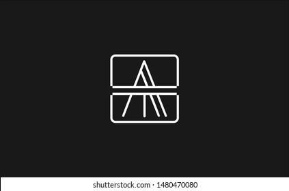Creative unique modern stylish artistic AT, TA, A, T initial based letter icon logo