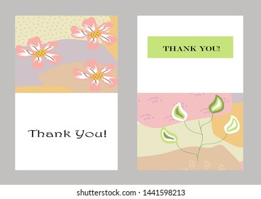 Creative universal artistic floral cards. Trendy Graphic Design for banner, poster, invitation, cover, placard, brochure, header.