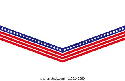Creative USA flag for banner, card, print t shirt, element design. vector illustration