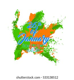 creative vector abstract for 26th January Republic Day of India with nice and creative design illustration in a background.