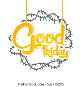 creative vector abstract or background for Good Friday with nice and beautiful design illustration in a background.