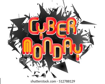 creative vector abstract for Cyber Monday with nice and creative design illustration in a background.