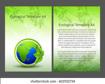creative vector abstract for Eco Go Green brochure
