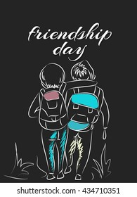 creative vector abstract for Friendship Day with nice and creative illustration in a background.