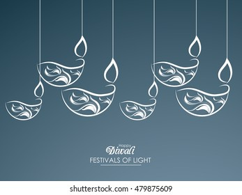 creative vector abstract for Happy Deepawali or Shubh Diwali with nice and beautiful design illustration in a background.