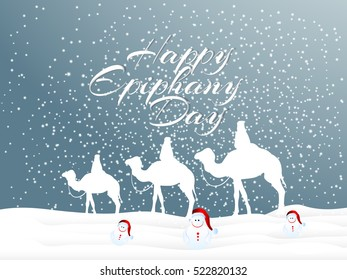 creative vector abstract for Happy Epiphany Day with nice and creative design illustration in a background.